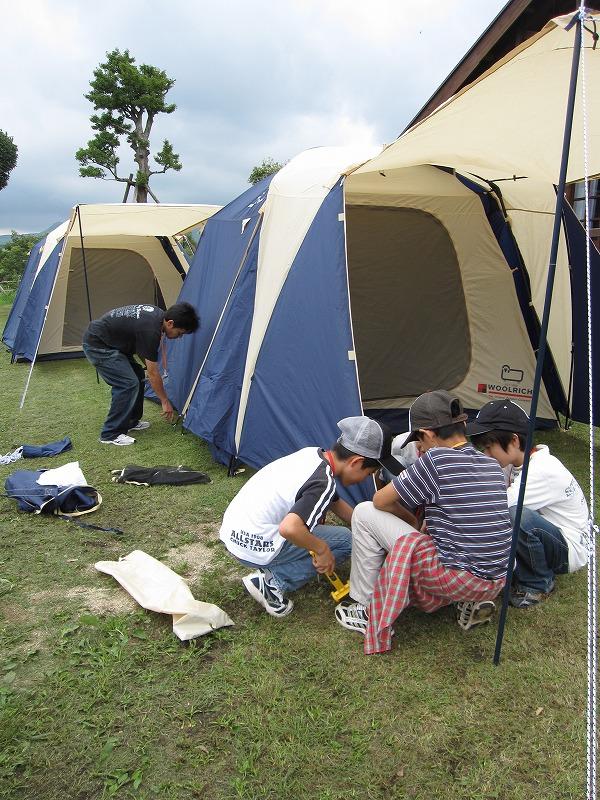 テントで寝ることも初めての体験に☆