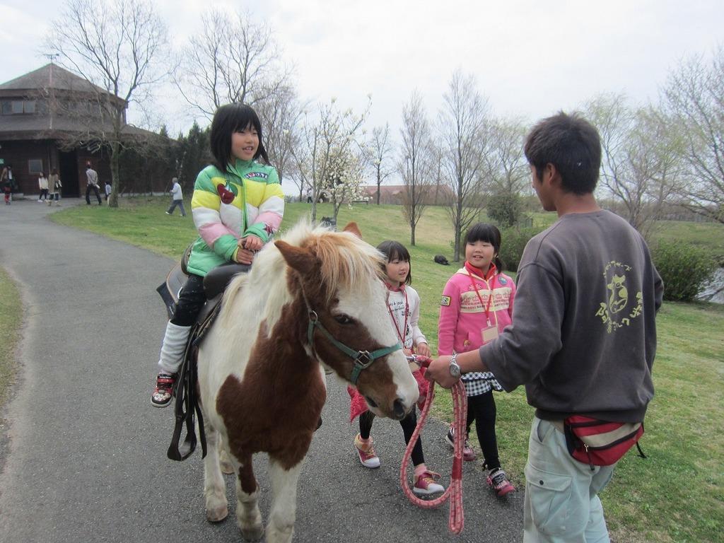 ポニーの乗馬体験☆特別コースを楽しみました!