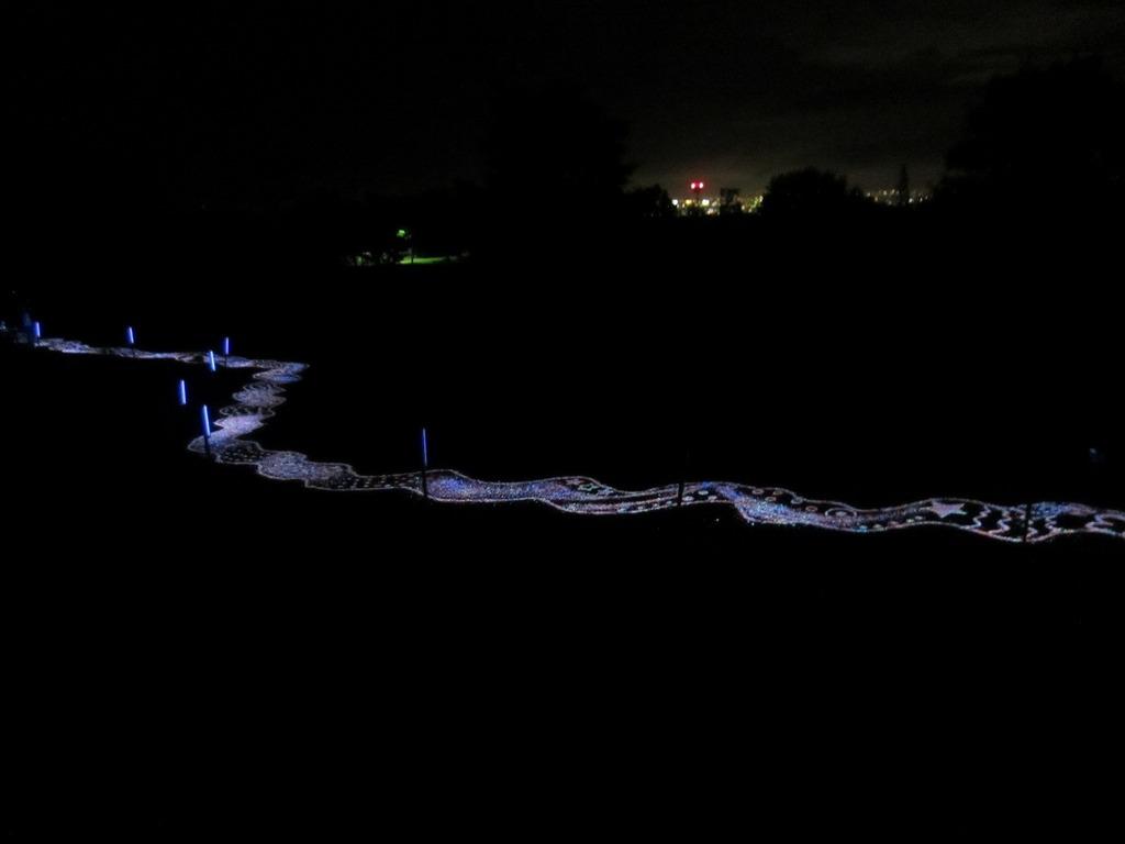 熊本の夜景と夜空と、光る石の天の川☆