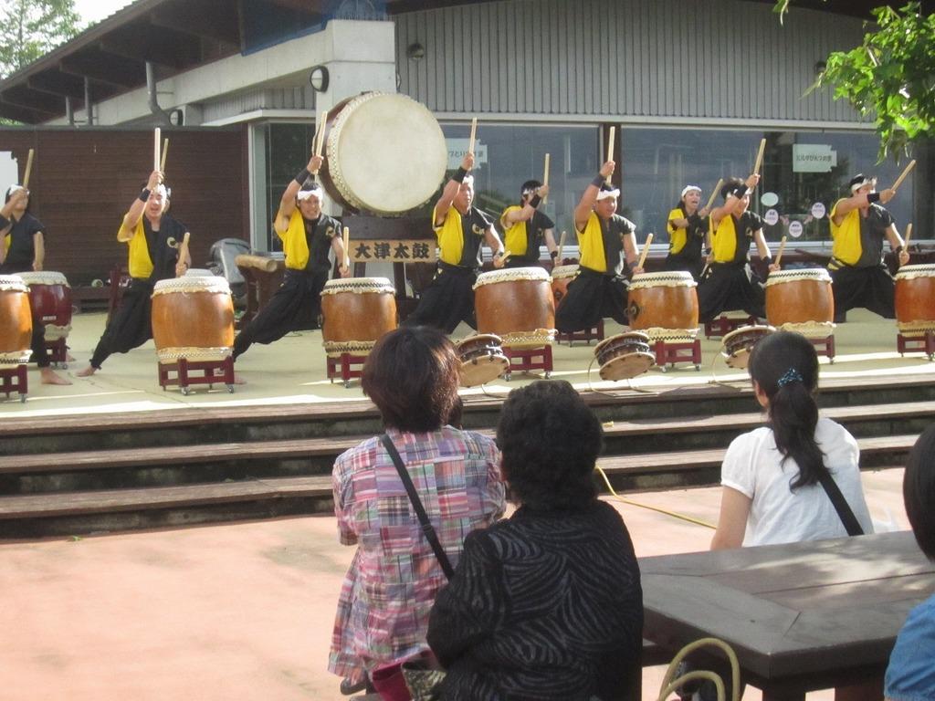 大津太鼓『清流会』のみなさんによる演奏を披露していただきました。7月7日