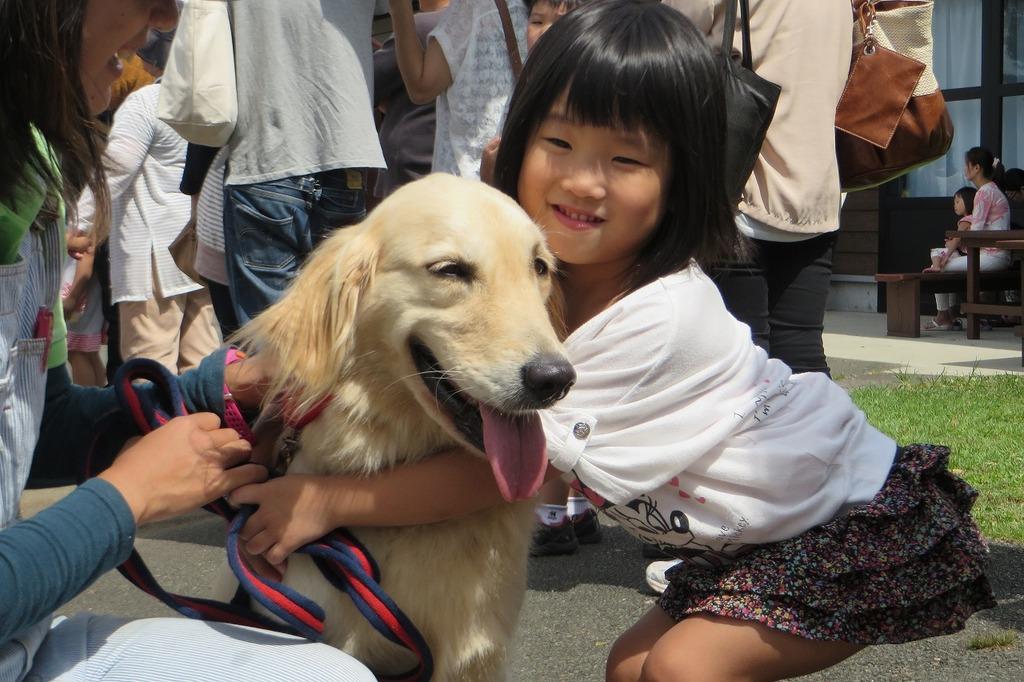 犬のおまわりさん『まるこ』も登場してみんなを癒やしてくれました♪