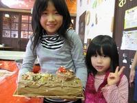 体験館のクリスマス限定メニュー☆ブッシュ・ド・ノエルつくり2010